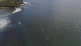 水表面上的冲浪者 股票录像