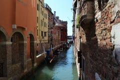 水运河在威尼斯 免版税图库摄影