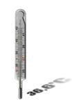 水银的温度计 库存例证