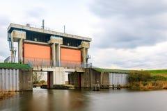 水闸在莱利斯塔德 库存图片