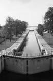 水闸在Przegalina 免版税库存图片