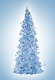 水飞溅圣诞树 免版税库存照片