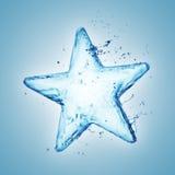 水飞溅星形 库存照片