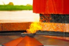 永恒火焰在Zvenigorod,俄罗斯 图库摄影