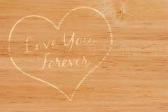 永远爱您 免版税库存照片
