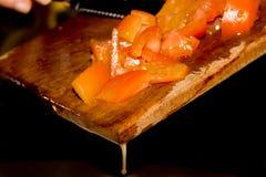 汁液倾吐的蕃茄 免版税图库摄影