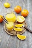 汁液和桔子 免版税库存图片