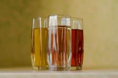 汁液和水 免版税库存照片