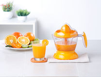 汁液柠檬制造商桔子 免版税库存照片