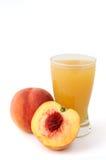 汁液桃子 库存照片