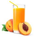 汁液桃子 免版税图库摄影