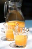 汁液桔子投手 免版税图库摄影