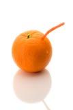 汁液橙色纯 免版税库存图片