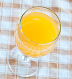 汁液橙色顶视图 免版税库存图片