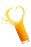 汁液橙色飞溅 免版税库存图片