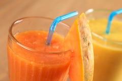 汁液番木瓜 库存照片