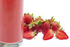 汁液草莓 库存照片