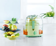 汁液设备制造商蔬菜 库存照片