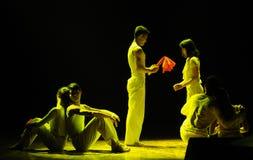 求爱七年现代舞蹈 免版税库存图片