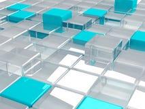 求玻璃塑料的立方 向量例证