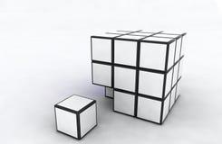 求白色的立方 免版税库存图片