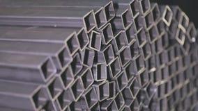 求积分法钢外形管子,金属化skal 清洗,金属仓库,金属外形堆积在行 股票录像