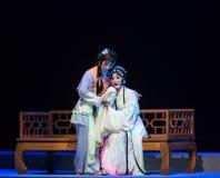 """寻求舒适这紫色簪子--江西linchuan† opera""""four梦想  免版税库存照片"""