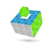 求解决方法的立方 库存例证