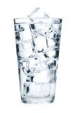 求玻璃冰纯水的立方 免版税图库摄影
