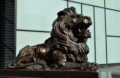 汇丰狮子 免版税库存图片