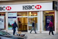 汇丰银行分行在伦敦 免版税库存照片