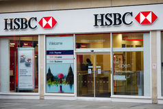 汇丰银行分行在伦敦 免版税图库摄影
