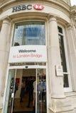 汇丰银行分行在伦敦 图库摄影
