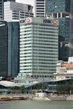 汇丰HQ在新加坡 库存照片