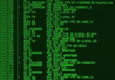 汇编程序源程序码 免版税库存照片