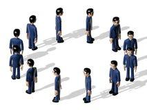 汇编3D漫画人物 皇族释放例证