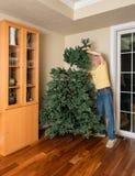 汇集人为圣诞树的老人为XMAS 库存照片