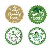 汇集农厂食物商标 免版税库存照片