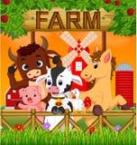 汇集动物在农场 皇族释放例证