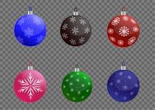 汇集圣诞节球 向量例证