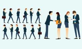 汇集在工作的人事务 向量例证
