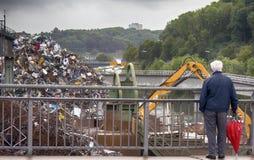 汇集的企业和回收废金属 库存照片