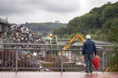 汇集的企业和回收废金属 图库摄影