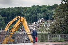 汇集的企业和回收废金属 库存图片
