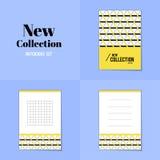 汇集菱形和正方形形状笔记本 免版税库存照片