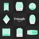 汇集菱形和正方形形状邮票 库存照片