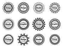 汇集设计adn图表演播室的奖邮票 免版税库存照片