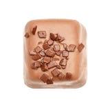 从汇集顶视图的巧克力candie 库存图片