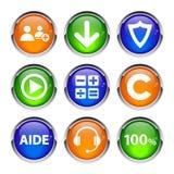 汇集3d按象网事务 免版税库存图片