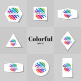 汇集Rainbowe线路梳理机 免版税库存照片